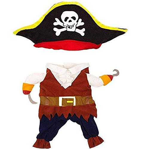 CJN Lustiges Haustier Drehte Piraten-Hundekatzen-Kostüm-Klage-Piraten-Kleiden Oben Partei-Kostüm-Katzen-Hund Plus -