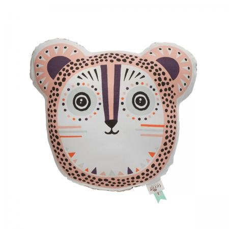 Ferm Living - Kissen Billy Bear Rosa - Bio-Baumwolle 36 x 30 cm