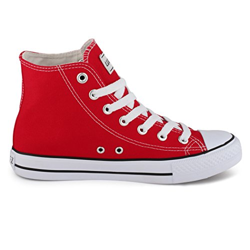 best-boots, Sneaker uomo Rosso (Red - High Top Rot)
