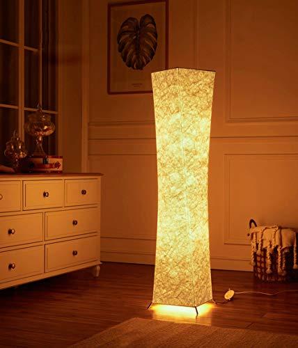(Deutschland Verteilung)LEONC Kreative Stehleuchte LOUNGE DESIGN STEHLAMPE Bodenlampe Wohnzimmerlamp & 2 Glühbirne 132 x 26cm,Beste Weihnachtsgeschenke (Leinengewebe Stil-1) -