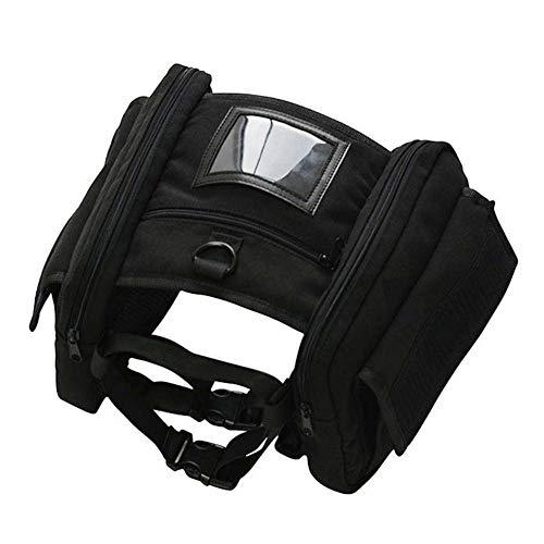 Kbsin212Outdoor Pet Verstellbarer Sattel Bag-Tragbare Abnehmbare Brust Tasche Hund Multifunktions-Rucksack für mittelgroße und große Hunde