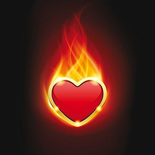 Apple iPhone SE Case Skin Sticker aus Vinyl-Folie Aufkleber Herz Liebe Flammen DesignSkins® glänzend