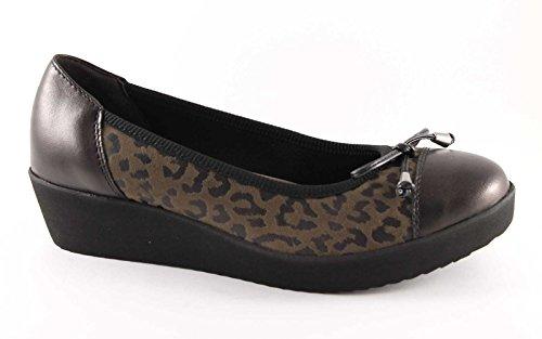 GRUNLAND AURA SC1527 taupe scarpe donna ballerina zeppetta