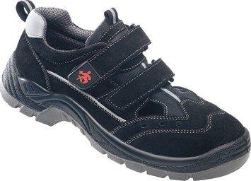 BAAK Sicherheitsschuhe Henry Industrial S1P Sicherheitssandalen BGR191 Größe 43, schwarz, 8424