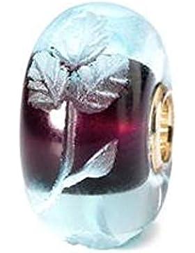 Trollbeads Damen-Bead 925 Sterling Silber Glas mehrfarbig TGLBE-20006
