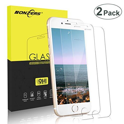 NONZERS Panzerglas Schutzfolie für iPhone 8/iPhone 7,[2 Stück] 9H Härte Panzerglasfolie,HD Screen Protector Glass/Panzerfolie,Anti-Kratzen, Anti-Öl, Anti-Bläschen Premium Screen Protector