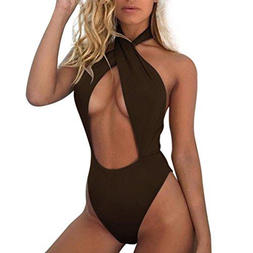 Bikini Farben Solide eine Münze Bandage Push Up gepolstert für Frauen toamen Drei Farben (Brasilianische Kostüm Party)
