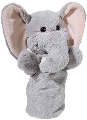 Heunec 394070 - Marioneta de Mano, diseño de Elefante, Color Gris