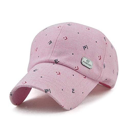FHSOHG Baumwollbaseballmütze Für Damen, Sommermütze, Herbst, Druckmützen Für Mädchen, Verstellbare Sonnenhüte Für Damen