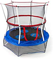 Skywalker Trampolines Unisex Child Seaside Adventure Bouncer Mini Trampoline, Blue, 60 Inch