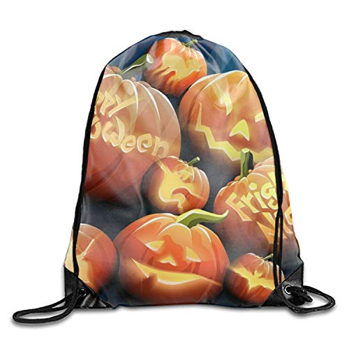 Naiyin Holiday Halloween Weird Artistic Drawstring Gym Bag - Waterproof for Sports & Workout Gear Sackpack Backpack Holiday Halloween9 -