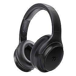 TaoTronics Active Noise Cancelling Bluetooth 5.0 Kopfhörer, Tiefer Bass mit CVC Geräuschunterdrückendes Mikrofon, Komfortable Ohrpolster für Reisen tragen [Schwarz 1.0] (Generalüberholt)