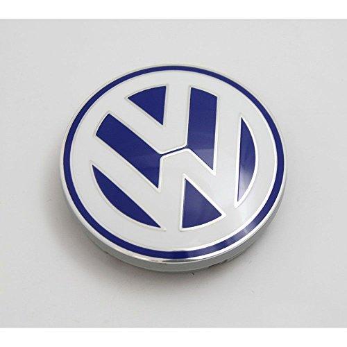 VW Nabenabdeckung Alufelge Original Abdeckkappe blau, gebraucht gebraucht kaufen  Wird an jeden Ort in Deutschland