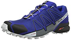 Idea Regalo - Salomon Speedcross 4, Scarpe da Trail Running Uomo, Azzurro (Mazarine Blue Wil/Black/White), 45 1/3 EU