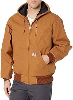 Carhartt en's Quilted Flannel ined Duck Active Jacket J140,Brown,XX-arge