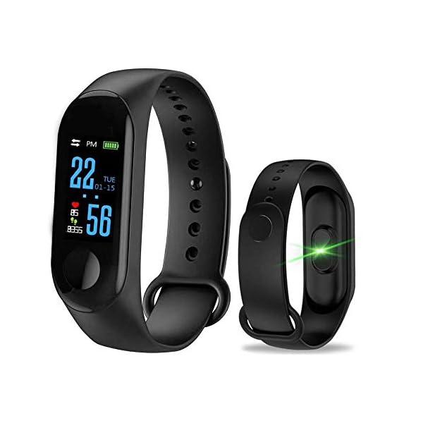 WANGLAI 1 PC Rastreador de Ejercicios, Pulsera Inteligente con Monitor de Ritmo cardíaco, Brazalete Inteligente con podómetro de Seguimiento de Actividad de sueño de Salud para teléfono Inteligente 1