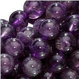 TOOGOO(R) Amatista Piedras Preciosas Perlas 6mm Ronda Purpura 15.5 pulgadas para Hacer la Joyeria, Diseno, Artesania