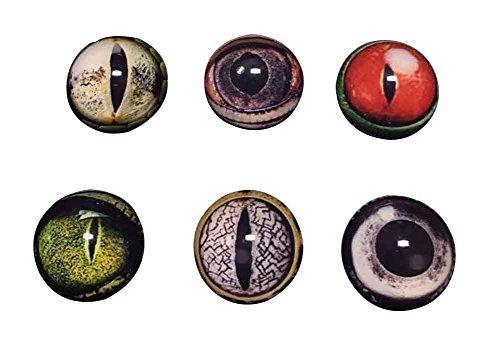 Black Temptation Set von 6 Glas gefälschte Augen Craft Eyes Puppe Augen DIY Zubehör 30MM [B]