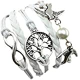 Bracelet Blanc Arbre Colmbe Et Perle Amour