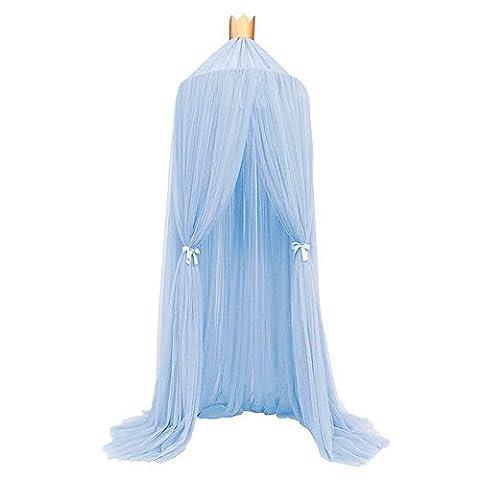 Souarts Betthimmel Baldachin Dekohimmel für Kinder Zimmerm, Fliegennetz Mückenschutz für Kinderbetten 240cm (Blau)