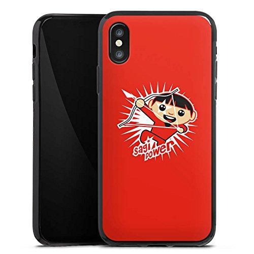 Apple iPhone X Silikon Hülle Case Schutzhülle Schütze Sternzeichen Sterne Silikon Case schwarz