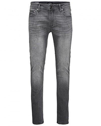 JACK & JONES Herren Jeans Liam Grey Denim 29 34 - Skinny Leg Tight