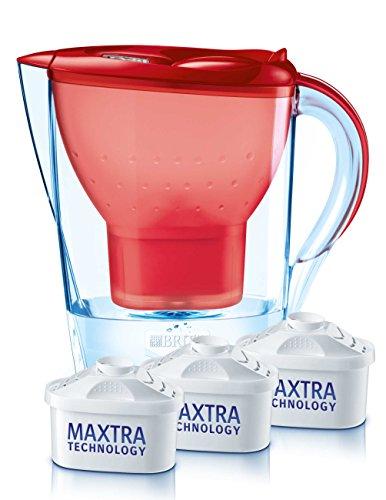 Brita, Set filtraggio acqua Marella Cool, incl. Caraffa e 3 filtri, Rosso (Rot)