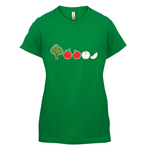 Evolution des Apfels - Damen T-Shirt - Grün - S (Frauen T-shirt Apfel)