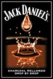 Mini Poster Charcoal Mellowed Drop by Drop Jack Daniels 40 x 50 cm