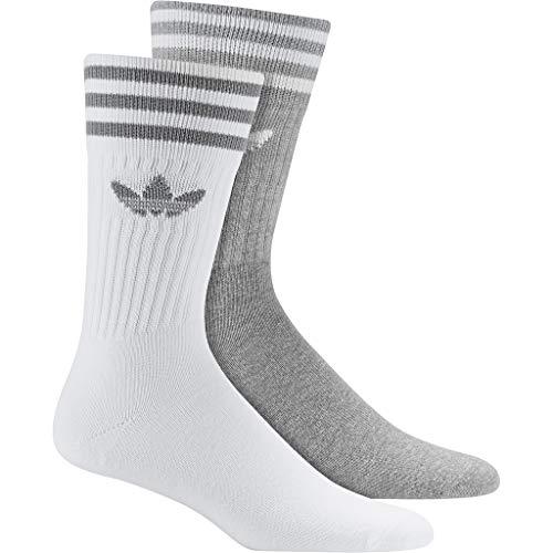 adidas Originals Socken Doppelpack SOLID CREW 2PP DW3934 Weiß Grau, Size:43/46