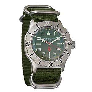 c1e57c839e19 Vostok komandirskie K-35 Coche Ejercicio automática Reloj de Pulsera Verde  Militar Ruso Zulu OTAN Band   350746
