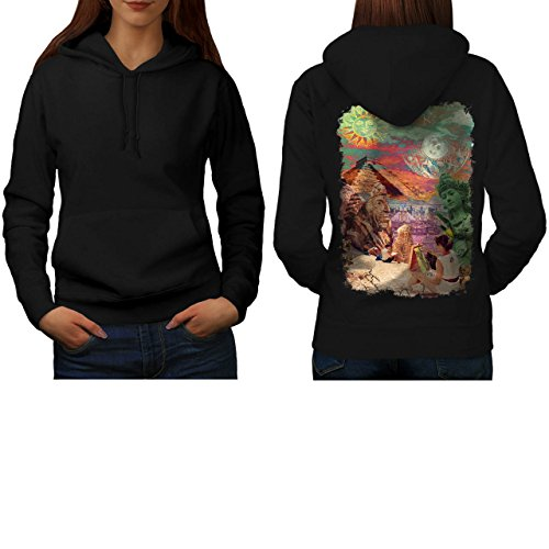 wonders-of-world-artist-maker-women-new-black-m-hoodie-back-wellcoda