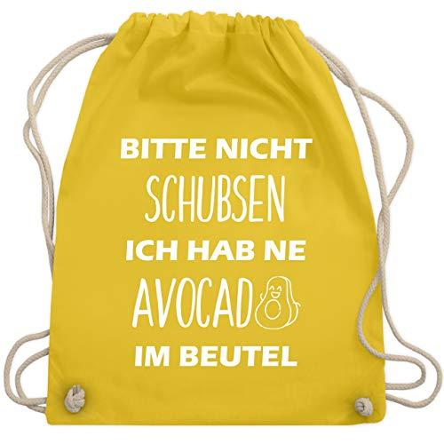 Festival Turnbeutel - Bitte nicht schubsen ich hab ne Avocado im Beutel - Unisize - Gelb - WM110 - Turnbeutel & Gym Bag - Olive Avocado