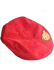 Demarkt Baby Kinder Süß Cute Bär Pattern Design Kaschmir Berets Baskenmütze Schirmmütze Mütze Hüte Kappe Hut