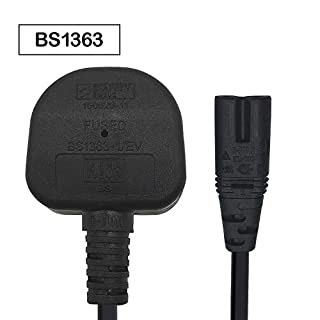 XINYUWIN Figure 8 C7 Mains Power cable Compatible With HP Envy/OfficeJet; Canon Pixma/Maxify; Epson Stylus/Workforce/Expression Premium/Artisan Printer; Brother/Dymo Label Writer