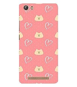 EPICCASE Cat n Love Mobile Back Case Cover For Gionee Marathon M5 lite (Designer Case)