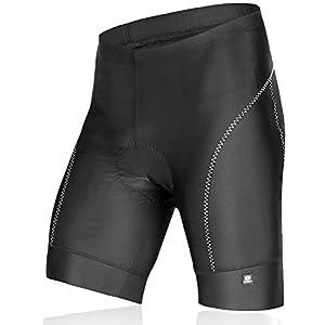 Lameda Pantalones Ciclismo Cortos Deportivos de 3D Silicona Gel para los Hombres(Negro,M)