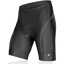 Lameda Pantalones Ciclismo Cortos Deportivos de 3D Silicona Gel para los Hombres(Negro,XL)