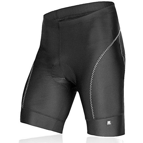 Lameda Pantalones Ciclismo Cortos Deportivos de 3D Silicona Gel para los Hombres(Negro,L)