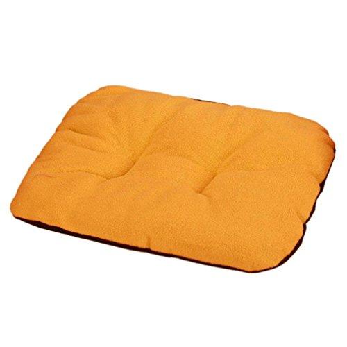 Cuccia per cane, Culater Cane letto per gatti Morbido Mat sonno caldo (31*37cm, arancia)