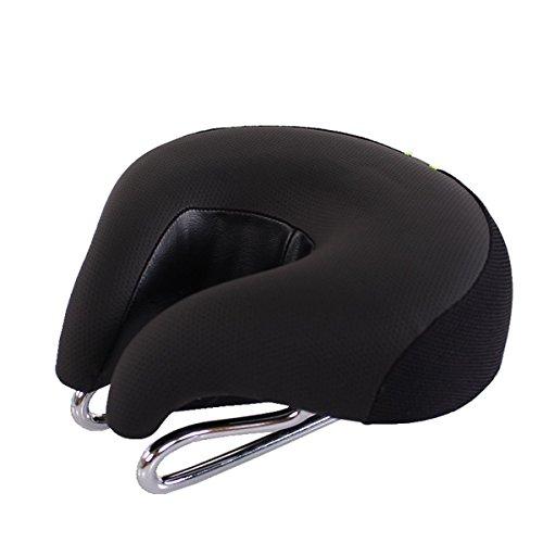 Sport Tent Fahrrad Sattel Sitz ohne Nase MTB Mountain mit higher Elastische Fahrrad Sitze Komfortable Ergonomische Radfahren Pad Kissen (Schwarz)