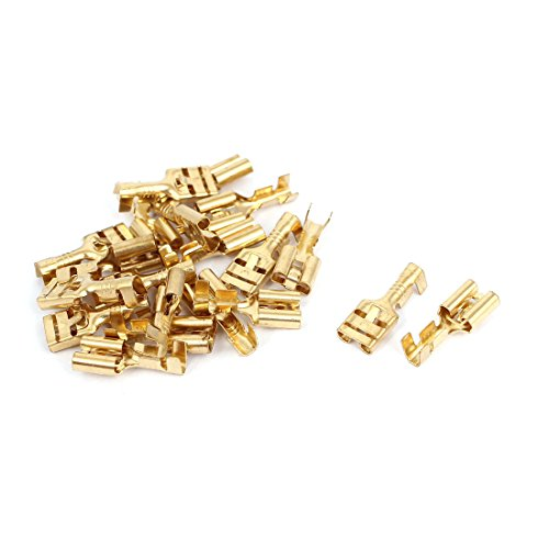 Sourcingmap a12112100ux0034 - 20 pezzi cavo 6,8 millimetri perno in ottone femminile della piegatura del connettore