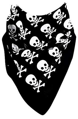 Rocker Nickituch Hals-Tücher schwarz Totenkopf Motive ()