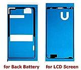 MIYI Kleber Klebefolie Klebepad Adhesive Sticker für Akku-Deckel Batterie-Deckel Rückseite Back-Cover & Vorderseite Front Side und Gehäuse Housing Rahmen (Sony Xperia Z3 Compact)