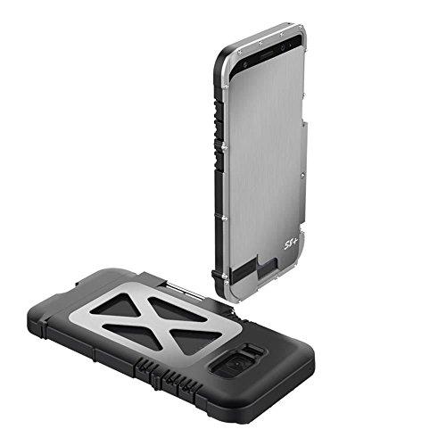 "Samsung Galaxy S8 Plus hülle,R-just Metall Rahmen Case,Stainless Steel Metal Aluminium Metall Schutzhülle Stoßfest Dropproof Bumper Flip Cover für Samsung Galaxy S8 Plus (6,2"") (Schwarz) Silber"