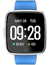 DOGZI Fitness-Tracker - stilvolles Design, Herzfrequenzmessung am Handgelenk, Schlafanalyse, Y7 Bluetooth Smart Watch Herzfrequenz Farbbildschirm Schrittzähler für Androdid für iOS
