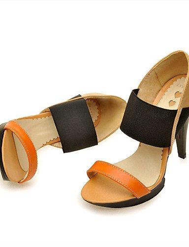 UWSZZ IL Sandali eleganti comfort Scarpe Donna-Sandali-Ufficio e lavoro / Formale / Casual-Tacchi / Plateau-A stiletto-Finta pelle-Blu / Giallo / Beige Blue