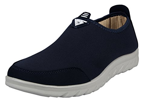 LoveSIA Sneaker Herren Loafer Slip-On Low-Top 43 EU Walkingschuhe dunkelblau (Herstellergröße 45)