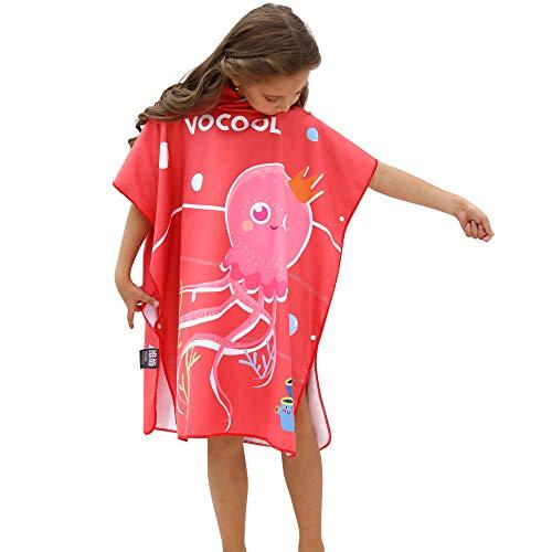 Heflashor Kinder Strandtücher mit Kapuzen Strandtücher Bademantel Badetücher Mädchen Jungen 100% Baumwolle Sporthandtücher Baby Bade Handtücher Badeponcho Kapuzentuch