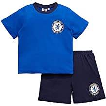 Various GladRags® Boys Girls Kids Unisex Premier League Football Official 2 Piece Shortie Pyjamas Sets Age 7 8 9 10 11 12 Years West Ham Chelsea Manchester City Liverpool FC